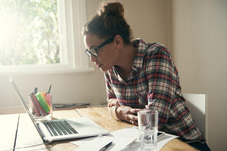Woman studying metrics