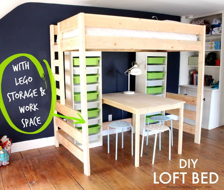 13 Free Loft Bed Plans The Kids Will Love