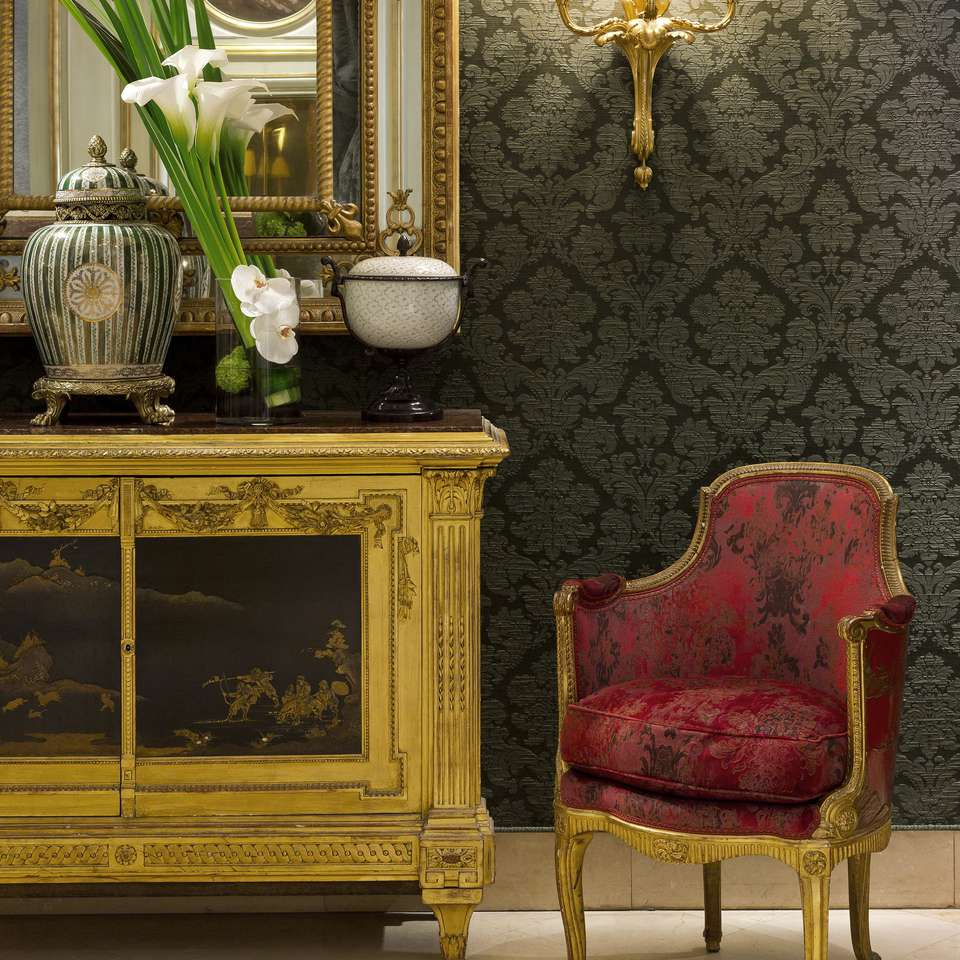 Reception corner at the Hôtel St Regis in Paris.