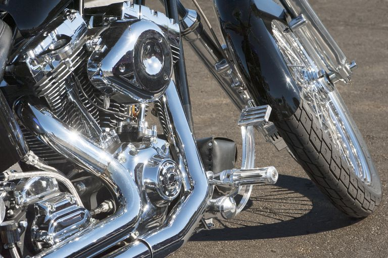 This is decorative chrome on a motorcycle. Chrome refers to electroplated chromium over another metal. Chrome may be either hexavalent chromium or trivalent chromium. Hexavalent chromium is extremely toxic.