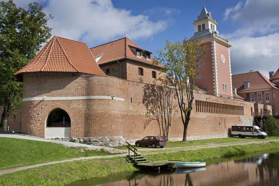 Old gothic castle in Lidzbark Warminski, Poland, Europe.