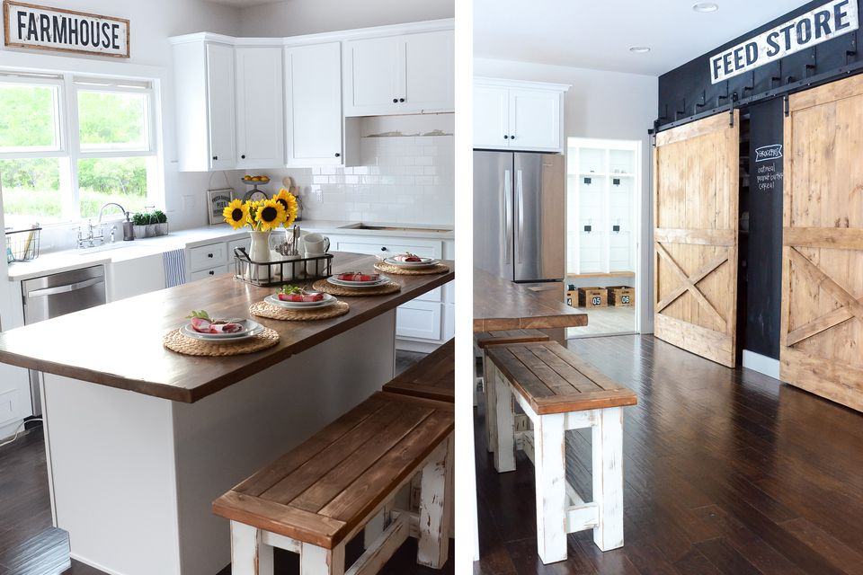 Gorgeous modern farmhouse kitchens for Kitchen ideas farmhouse