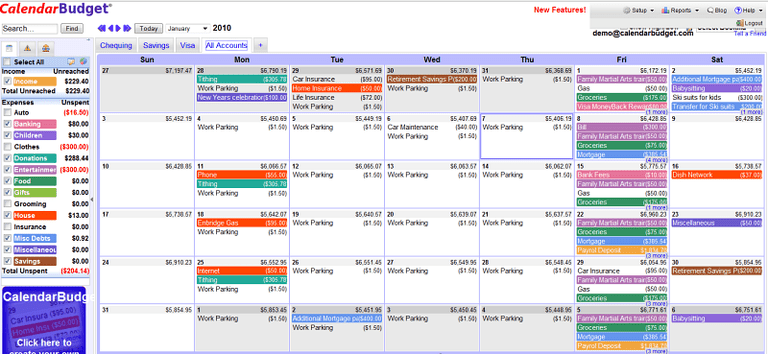 A Review of CalendarBudget Free Online Budget Software