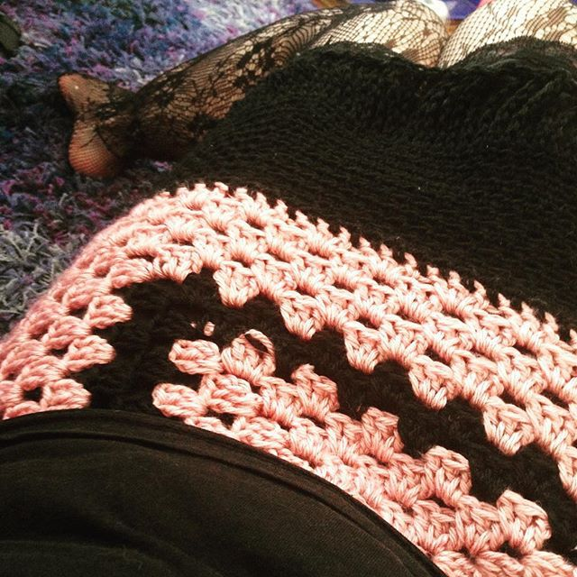 Crochet Granny Skirt with Tall Stitches as Fringe