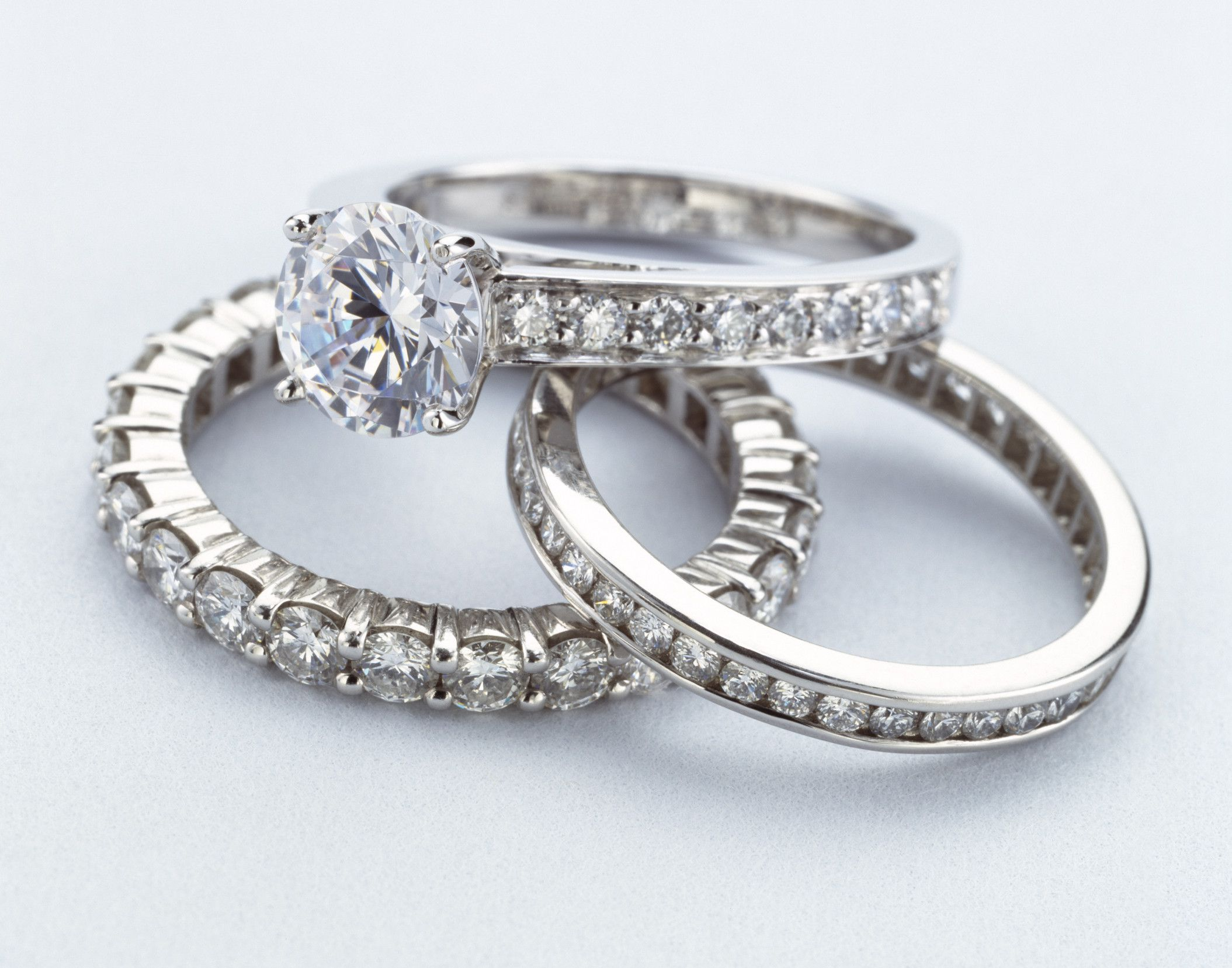Photo Of Three Diamond Rings Illustrating Abouts Jewelry Sweepstakes List