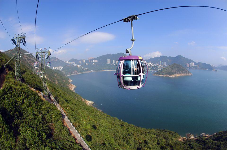 Ocean park cable car, Hong Kong, China