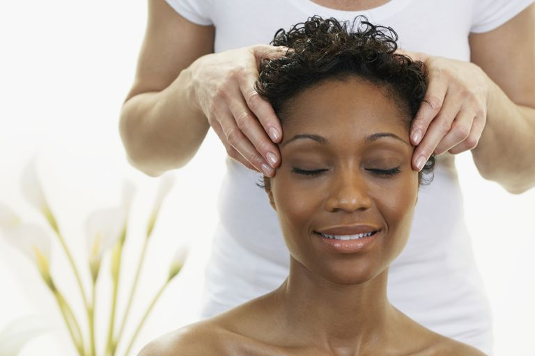 Woman receiving BodyTalk therapy