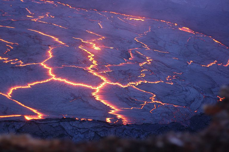 Surface of lava lake