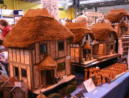 Thatched 1:12 scale dollhouses from Little Homes of England.