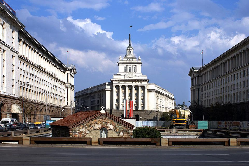 Bulgaria, Sofia, Party House, Stalinist-era headquarters of the Communist Central Committee