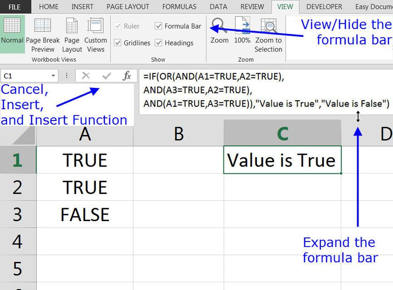 formula bar fx bar in excel and google spreadsheets