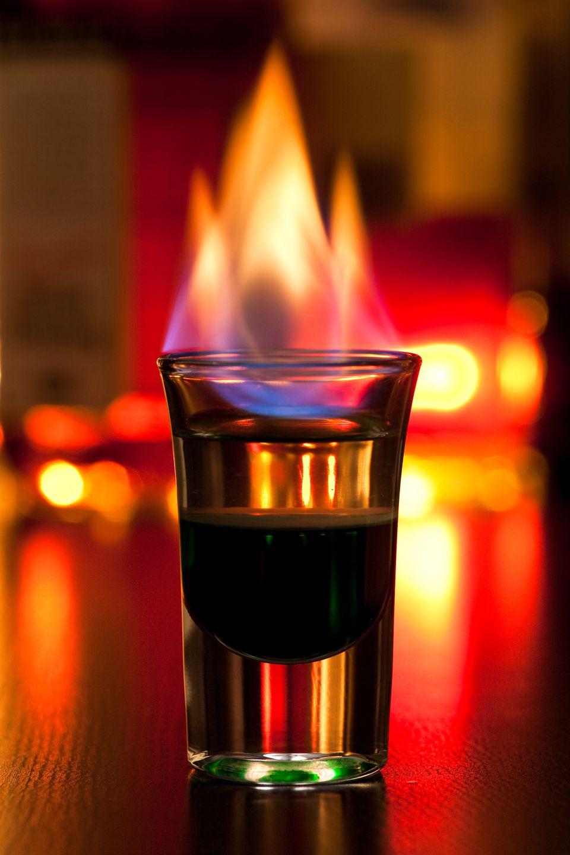 Flaming Dr. Pepper Shot Drink