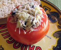 Tomates Rellenos de Atun - Tuna-Stuffed Tomatoes