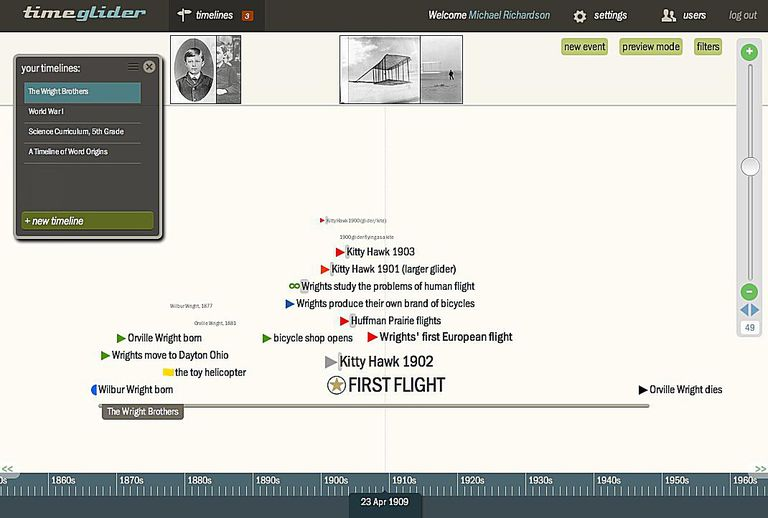 timeline mapping software