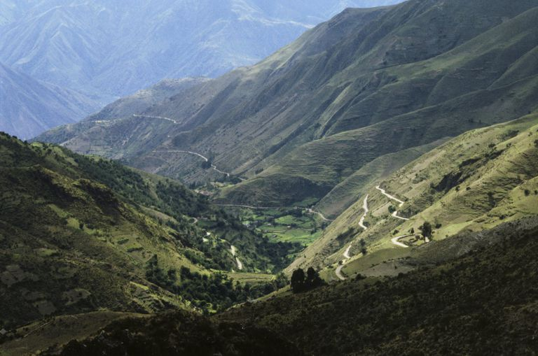 A mountain range in the Pervuian Andes