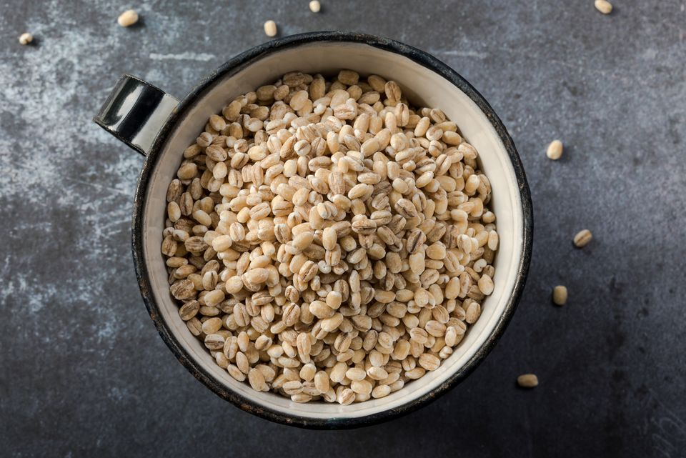 Directly Above Shot Of Barley In Bowl On Table