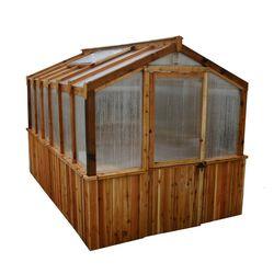 Outdoor Living Today Cedar 8 ft. x 12 ft. Greenhouse Kit