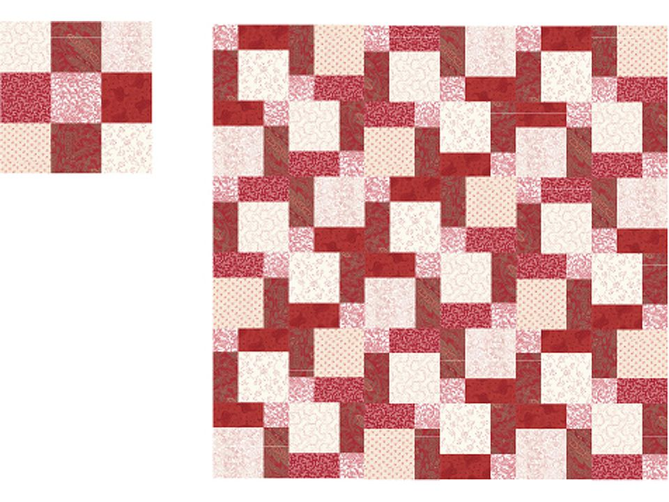 Easy Disappearing Nine Patch Quilt Pattern : disappearing nine patch quilt - Adamdwight.com