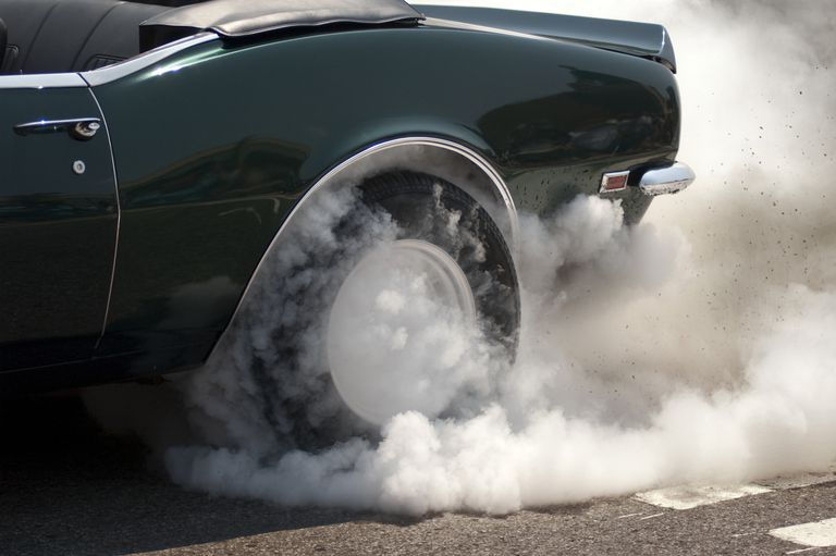 smoke from tire