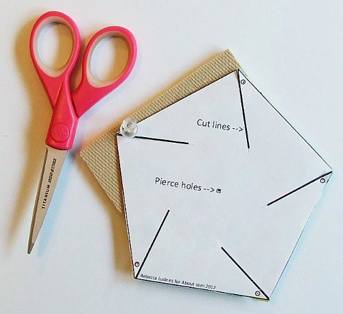 Star pinwheel for scrapbooking and card making for How to draw a perfect star shape