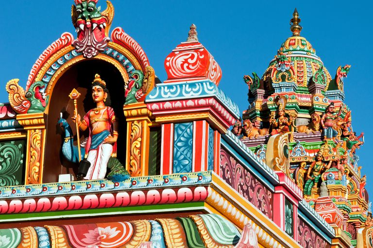 Hindu temple near harbour, Port Louis, Mauritius
