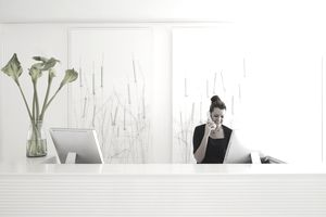 Receptionist at the front desk
