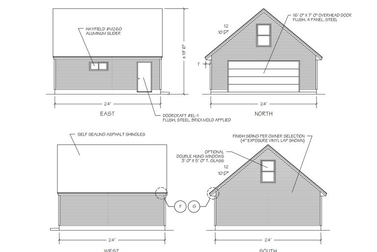 9 free plans for building a garage for Small garage plans free