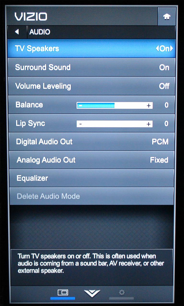 vizio tv menu tuner. vizio e55-c2 smart led/lcd tv - audio settings menu tv tuner e