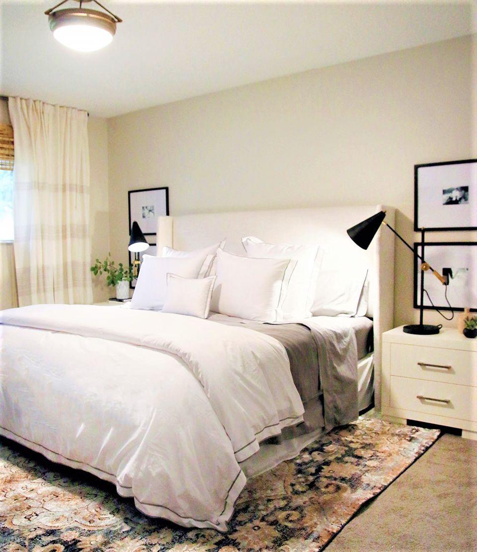 Dark Bedroom Lightened Up After Makeover