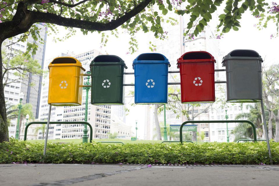 Trash cans, Rio De Janeiro