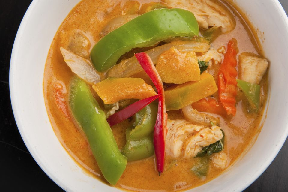 Close up of bowl of curry