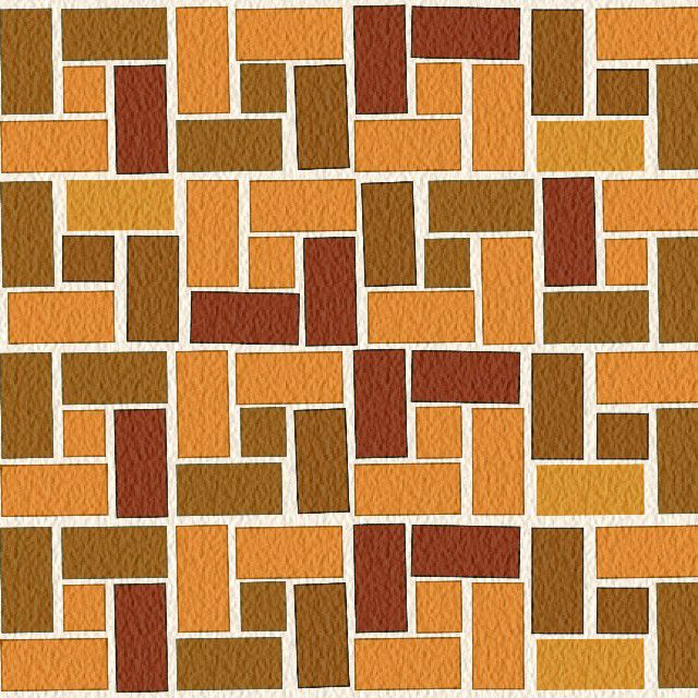 Brick Designs for Patios and Pathways A pinwheel-bond brick pattern.  Illustration by Thom Taylor