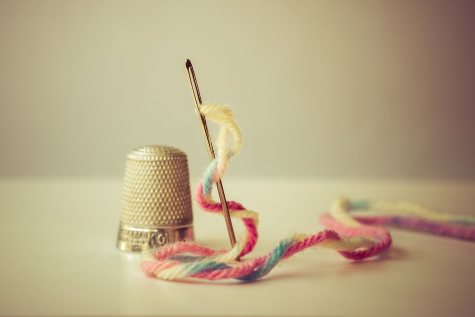 Needle, Wool, and Thimble