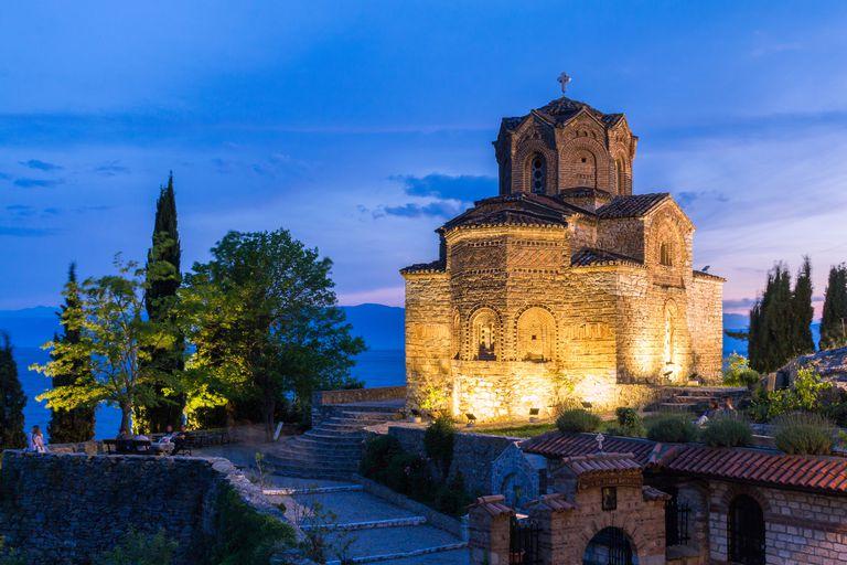Church of St John at Kaneo on Lake Ohrid in Macedonia