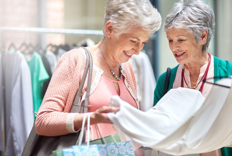 Two Senior Women Shopping