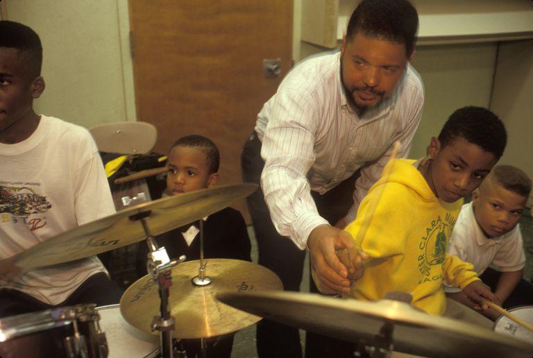 Music Teacher Teaching Jazz