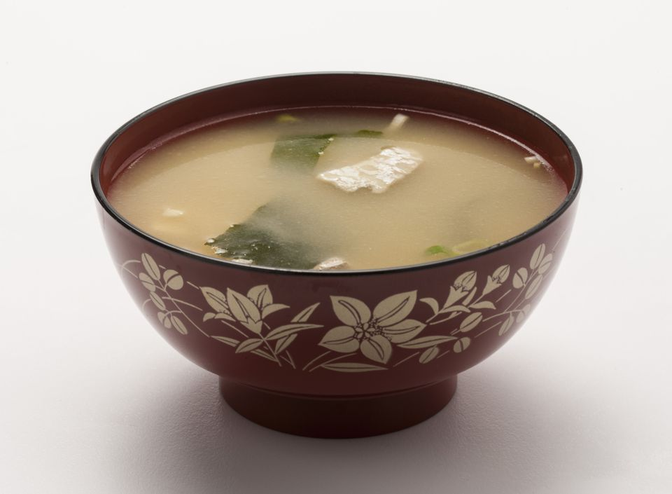 Vegetarian miso soup with tofu