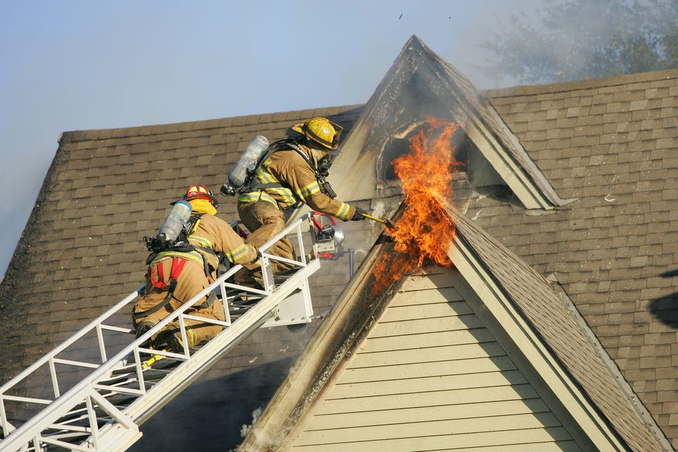 House Fire Attic