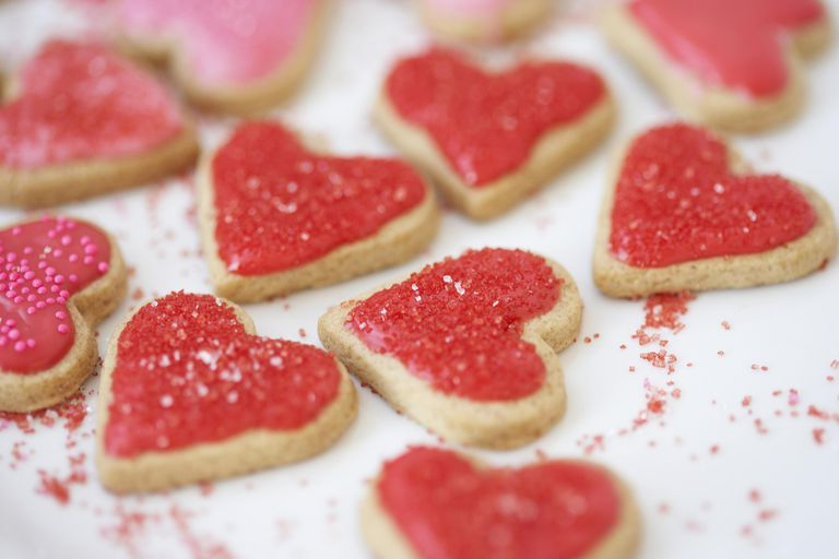 courtesy of getty images sweet treats are standard valentines day