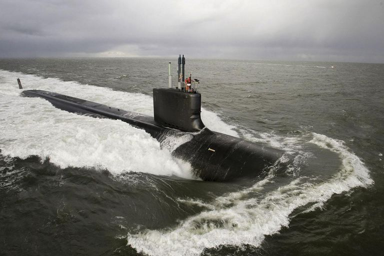 103458262 Premium Access download November 26, 2009 - The Virginia-class attack submarine Pre-Commissioning Unit New Mexico (SSN-779) undergoes Bravo sea trials in the Atlantic Ocean.