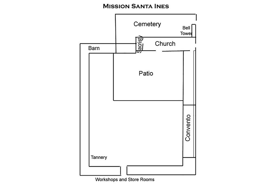 Santa ines mission for visitors and students for Mission santa barbara floor plan