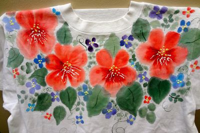 Setting Acrylic Paint On Fabric