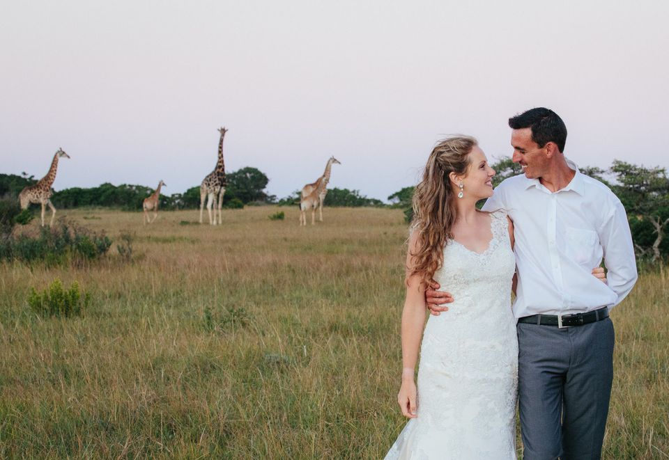 Bride and groom in the African Bush