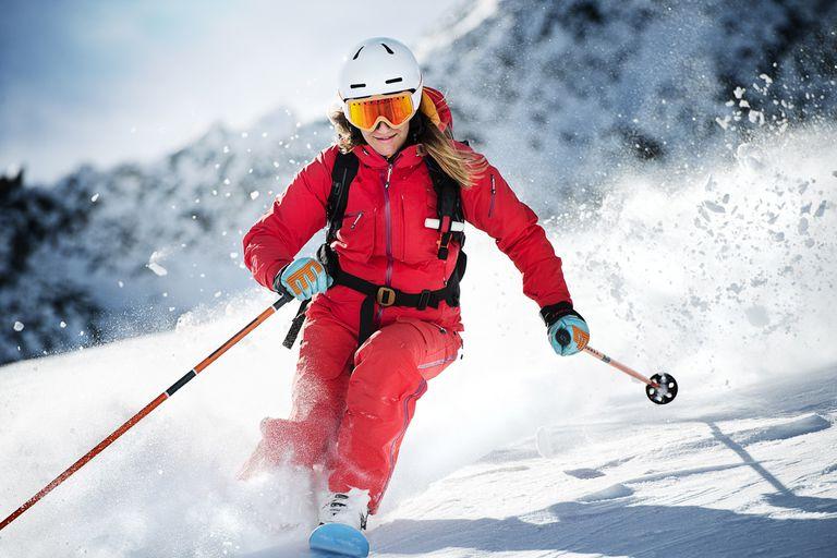 A Woman Skiing