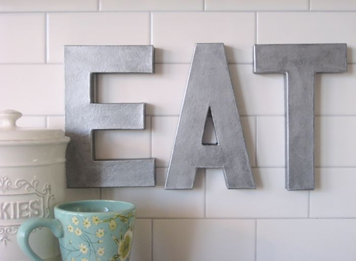 DIY Zinc Eat Sign