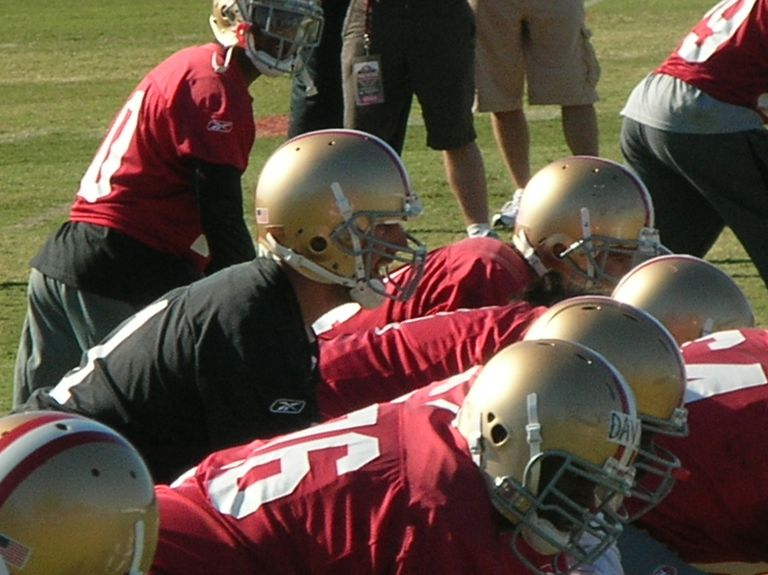 The San Francisco 49ers conduct training camp at the team's headquarters and practice facility in Santa Clara, California.