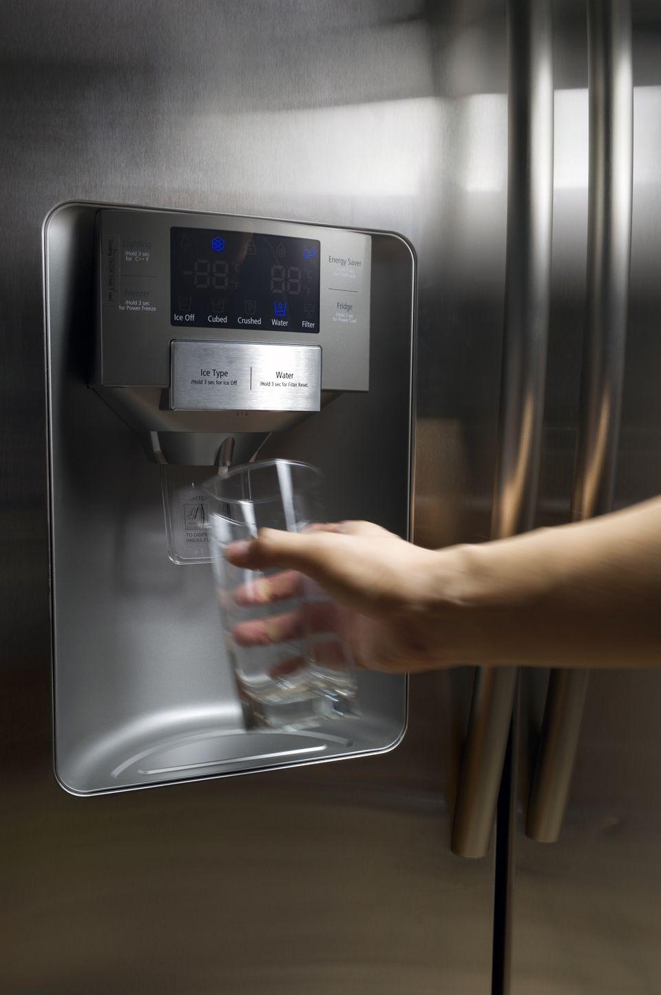 Refreshing water from fridge