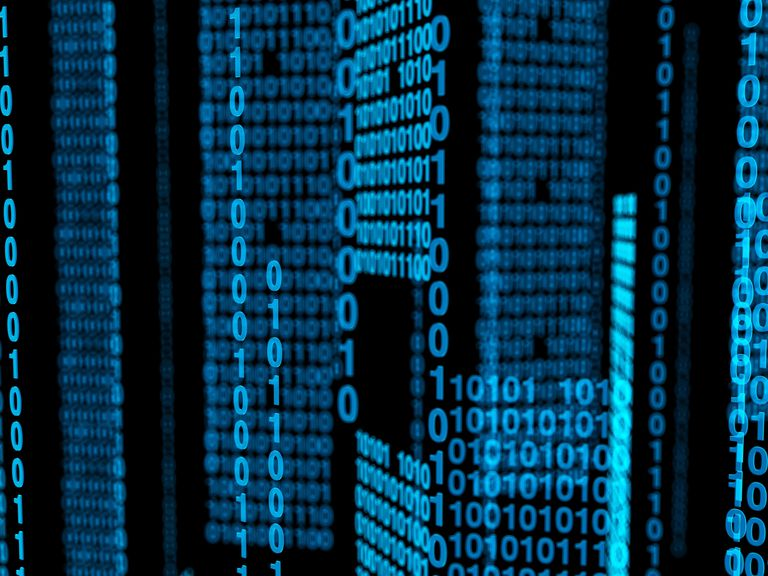 Binary code, illustration