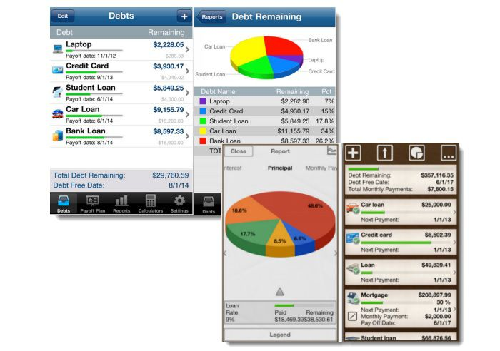 iPad and iPhone Debt Reduction Apps Debt Payoff Pro and Debt HD