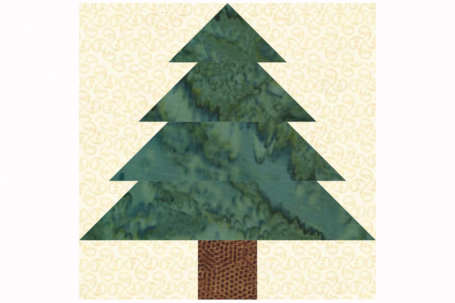 Christmas Quilt Block Patterns Free : Easy Patchwork Christmas Tree Quilt Block Pattern